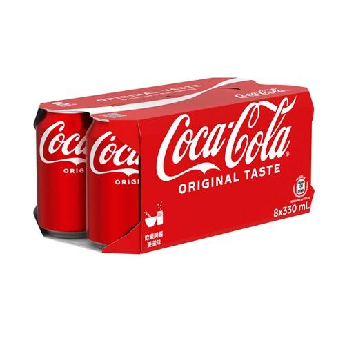 Coca-Cola Can 330ml 8P