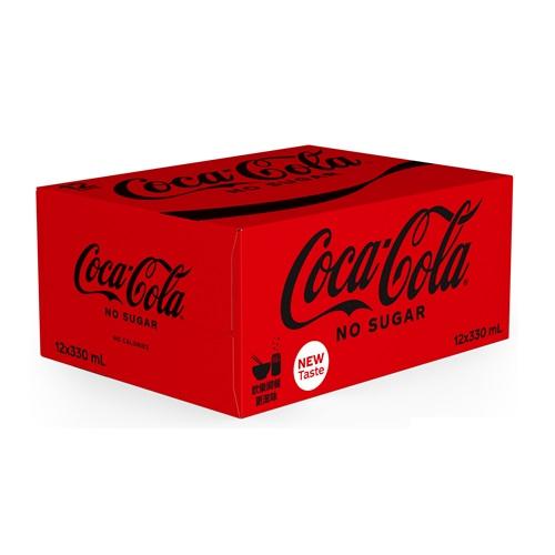 Coca-Cola No Sugar Can 330ml 12P