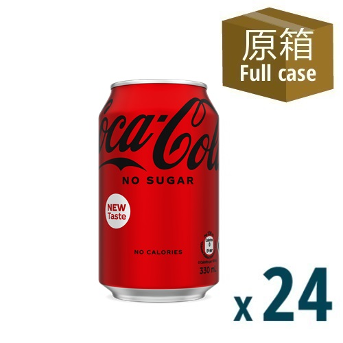 Coca-Cola No Sugar Can 330ml 24P