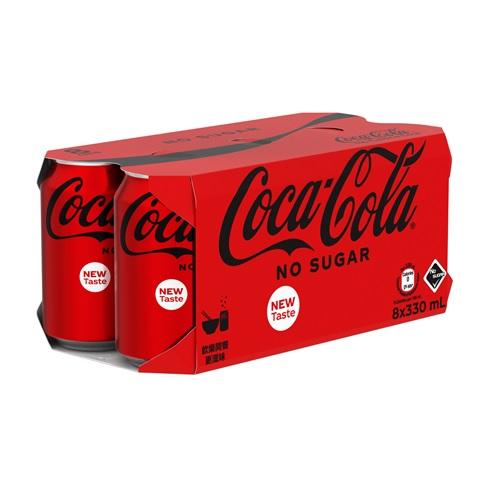 Coca-Cola No Sugar CAN 330ml 8P